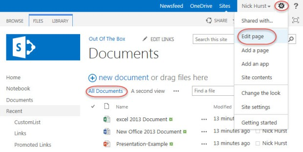 Remove Document Library View Selector or New Document ...